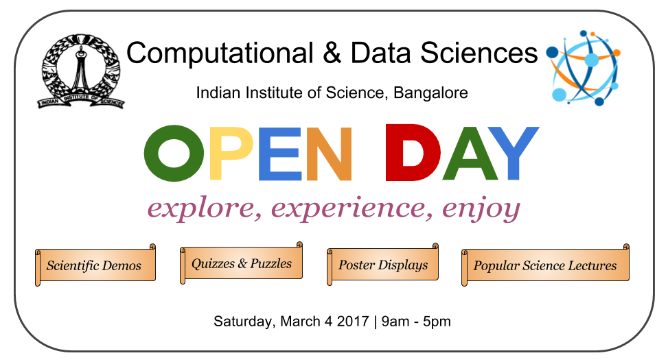 Irsc Academic Calendar 2022.Open Day 4 March 2017 Department Of Computational And Data Sciences
