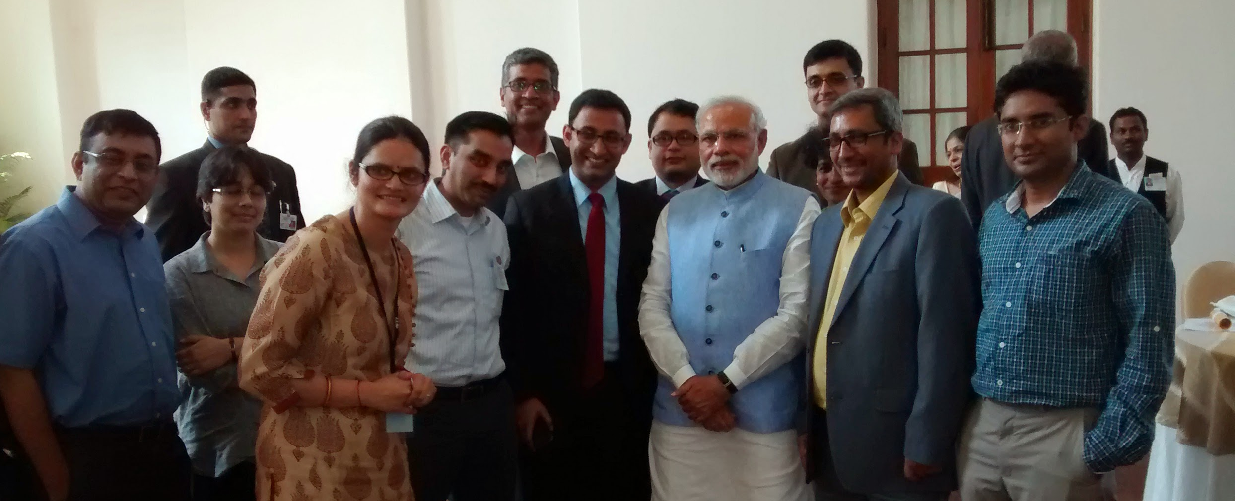 PM with Junior Faculty from IISc after Lunch
